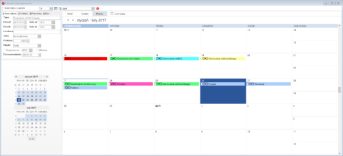 Kalendarz zadań CrM