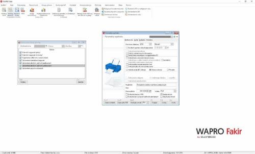Zestawienie obrotów i sald - okno parametrów wydruku