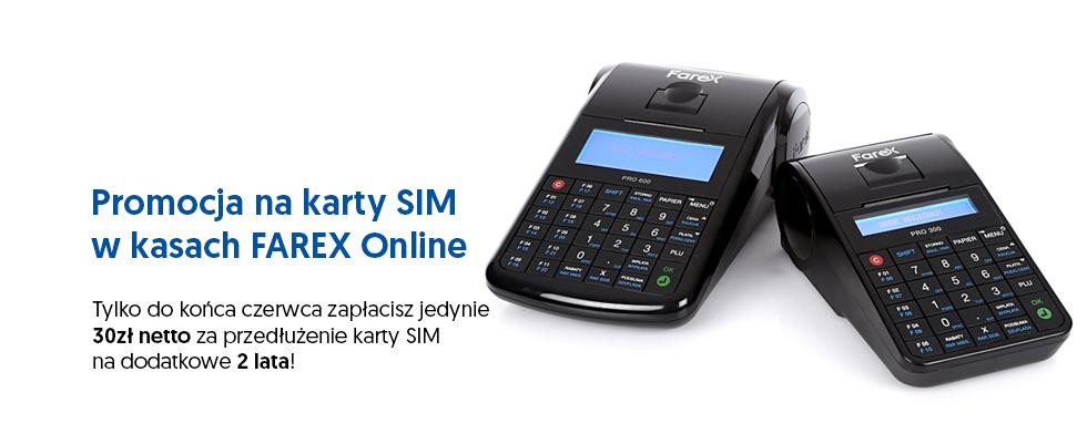 Promocja na karty SIM w kasach Farex Online